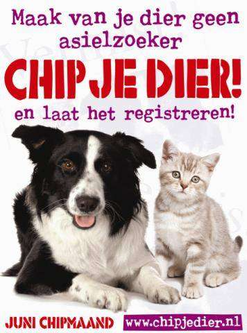 Chip én registreer je dier….