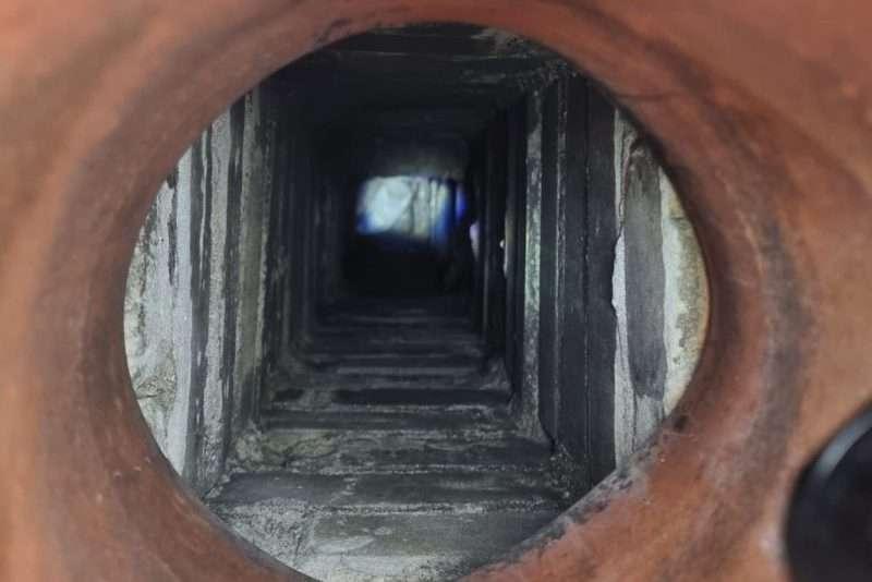 Duif op drie meter diepte